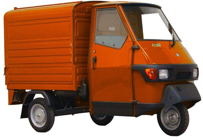 piaggio ape van 25km orange scooter. Black Bedroom Furniture Sets. Home Design Ideas